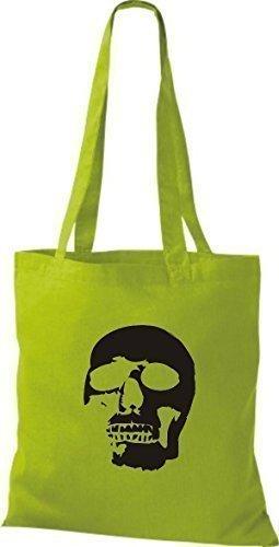 ShirtInStyle Stoffbeutel Skull Totenkopf Schädel diverse Farbe kiwi