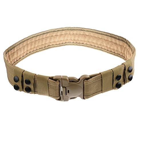 Generic Tactical Outdoor Security Police SWAT Nylon Duty Utility Belt Khaki