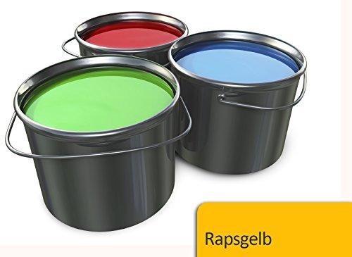 Betonfarbe Bodenfarbe seidenmatt innen außen | BEKATEQ BE-700 Bodenbeschichtung Garagenbodenfarbe Sockelfarbe Bodenversiegelung (5L, Gelb)