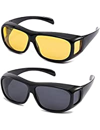 RACHEES Day & Night HD Vision Goggles Anti-Glare Polarized Unisex Sunglasses/Driving Glasses Sun Glasses UV Protection car Drivers