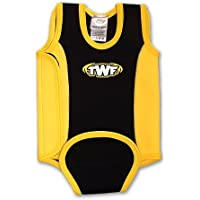 6 to 12 months yellow/black baby wetsuit