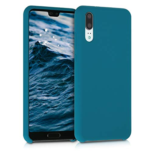kwmobile Funda para Huawei P20 - Carcasa de [TPU] para teléfono móvil - Cover [Trasero] en [Turquesa Mate]