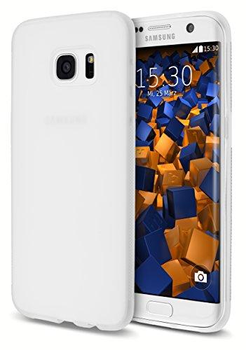 mumbi double GRIP Hülle f. Samsung Galaxy S7 Edge Schutzhülle transparent weiss