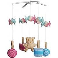 Baby Geschenk,Musical Crib Mobile,hängendes Spielzeug [Lollipop und Süßigkeiten] preisvergleich bei kleinkindspielzeugpreise.eu