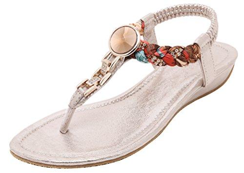 Cfp - Chaussures À Bride De Cheville Dorées Pour Femmes