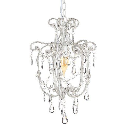 Lámpara de techo de metal blanca de araña clásica para salón Vitta - Lola Home