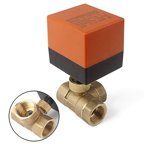 3 Wege Zonenventil Kugelventil Absperrhahn, 2 Modus, DN25 G1 Zoll, AC 230V, DreiWegeventil Umschaltventil, Absperr-Umschalt-Kugelventil, Elektro Ventil (Solar-elektro-warmwasser)