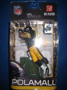 McFarlane Toys NFL Sports Picks Series 25 Action Figure Troy Polamalu (Pittsburgh Steelers) Black Jersey