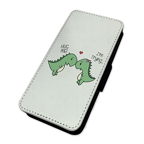 adorable Hug Me dinosauri – Flip cover in pelle copertura di carta Apple Iphone 6 Plus/6s Plus