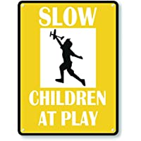 aqf527907 Slow 10 Mph Children /& Pets At Play Sign Novelty Aluminum Metal Signs Vintage Outdoor Yard Signs Safety Warning Sign Tin Plate Plaque 8x12 Inches Help Keep Speeds Down