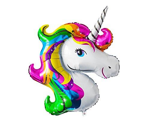 """Globo de lámina \""""Unicornio Arcoiris\"""" globo rellenable con helio o aero fiesta boda fiesta de cumpleños decoración   Alto aprox. 115 cm"""