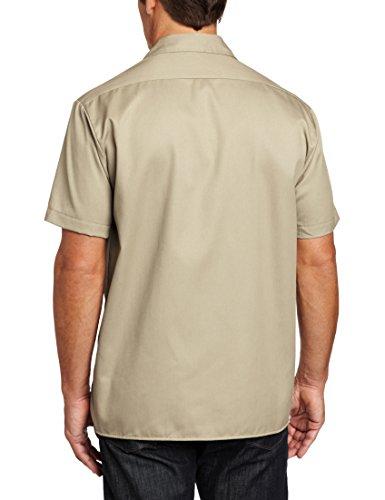 Dickies Herren Freizeithemd Work Shirt Short Sleeved Beige (Khaki Kh)