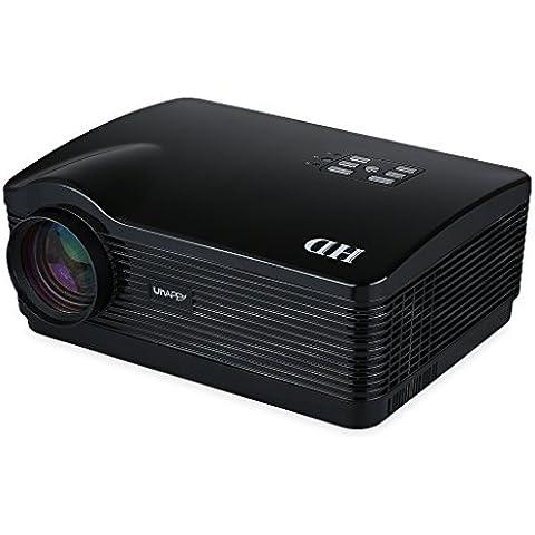 Uhappy H2 - HD Proyector Inalámbrico (Android, 150W, 720P, WIFI, HDMI/USB/SD/ATV/AV/VGA, 1280*768, Zoom) Cine Teatro -