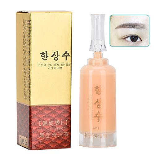 Microblading Tattoo Entferner Cream für Augenbrauen Lippe Augen, Tattoo Repair Gel Lippenpflege Salbencreme, Nicht irritierend frei von alkohol Reiniger (Augenbrauen) - Alkohol-frei Reiniger