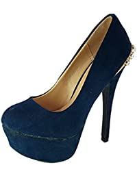 shoes scarpe donna ragazza moda comoda new decoltè decolletè dekol tè tacco  a spillo 15 f9baf10353d