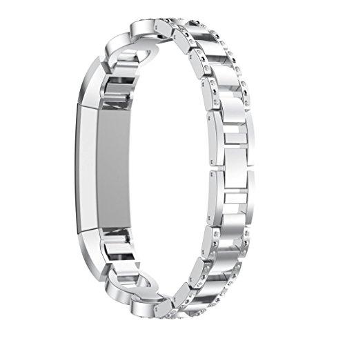 Fitbit Alta HR/Fitbit Alta Ersatz Armbänd, BeneStellar Ersatz Milanese Band für Fitbit Alta HR/Fitbit Alta, Uhrband Uhrenarmband mit Magnet-Verschluss und Metallschließe (Silber)