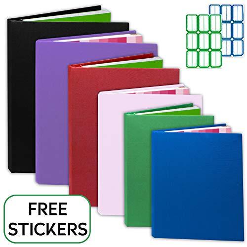 Kraftex Buchhüllen [6er Pack] Elastische Buchhüllen für Hardcover, Paperbacks. Jumbo Buch Socken für Lehrbücher. Waschbar, langlebig, wiederverwendbar mit kostenlosen Aufkleber-Etiketten (Groß)