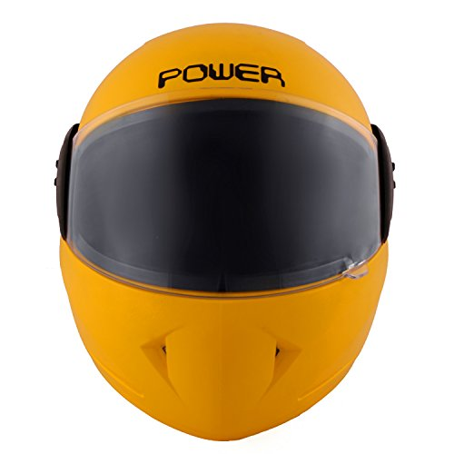Autofy Power Full Face Helmet With Scratch Resistant Visor (Matte Bright Yellow)