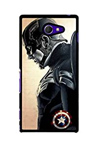 Caseque Blaze Captain America Back Shell Case Cover For Sony Xperia M2