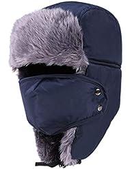 LIOOBO Berretto da Sci Invernale Antivento Cappello da Equitazione Caldo per Uomo Donna Misura Libera