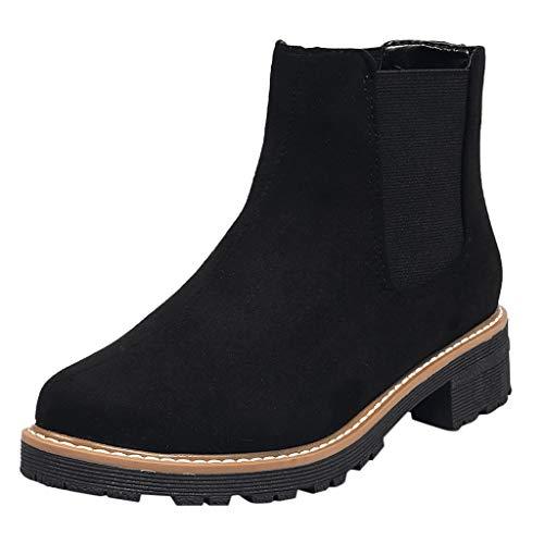 NMERWT Damen Kurz Regen Stiefel wasserdichte Knöchel Chelsea Booties Elastic Band Scrub Single Boot Work Boots Student Large Size Ankle Boots für Damen