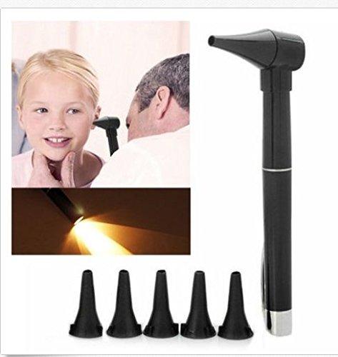 Otoskop, 5 Köpfe Otoskop Neue Beleuchtet Stift Stil Hause Ohr Nase Pflege Inspektion Umfang Otoskop Auriscope für Ohr Gesundheitswesen (Otoskop-kopf)