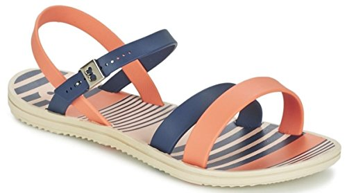 Zaxy Urban Navy Coral Womens Flats Sandals-5