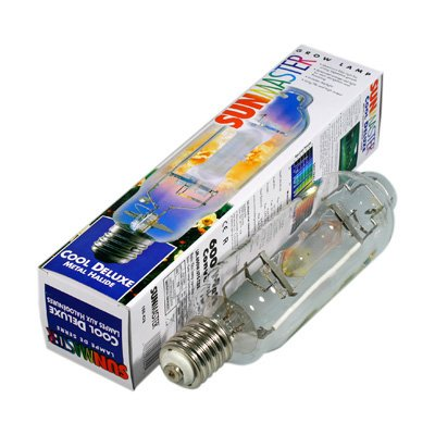 Sunmaster Metal Halide Grow Lamp bulb for Indoor gardening, Hydroponic growing systems. Agricultural lighting Greenhouse