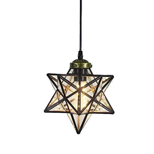 Sterne transparent Lampenschirm Kronleuchter Anhänger Licht Loft Decke Anhänger Licht für Korridor Gang Tür Bar Schlafzimmer Restaurant Wohnzimmer -