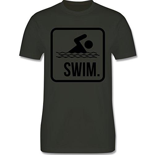 Wassersport - Swim. - Herren Premium T-Shirt Army Grün