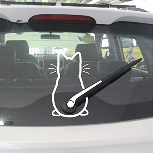 zimmer Niedlicher Kitty-Katzen-Auto-Scheibenwischer-Kunst-Aufkleber-Dekor für Autoaufkleber ()