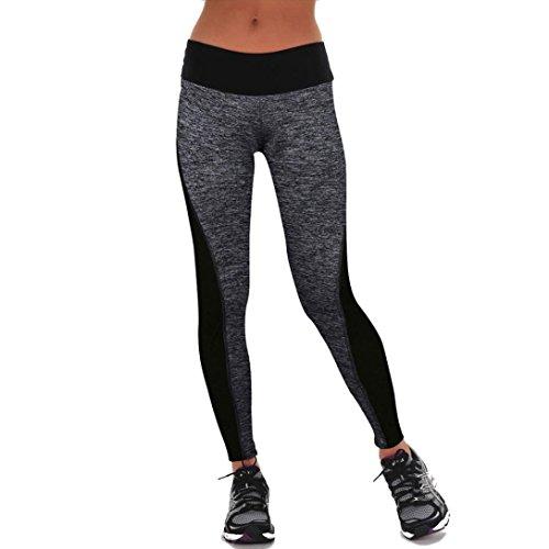 HARRYSTORE Pantalones elásticos de yoga para mujer Mujer Pantalones deportivos elásticos y cómodos mujer Polainas (M, Gris)