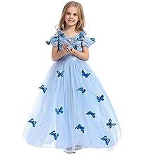 Dr.mama Principessa - Tutù da Principessa Costume Gonna Bambina Ragazza Cosplay Natale Festa Compleanno Vestito Abito Carnevale