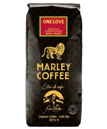 Marley Café Orgánico Medio Asado Granos De Café - Uno 227G Amor