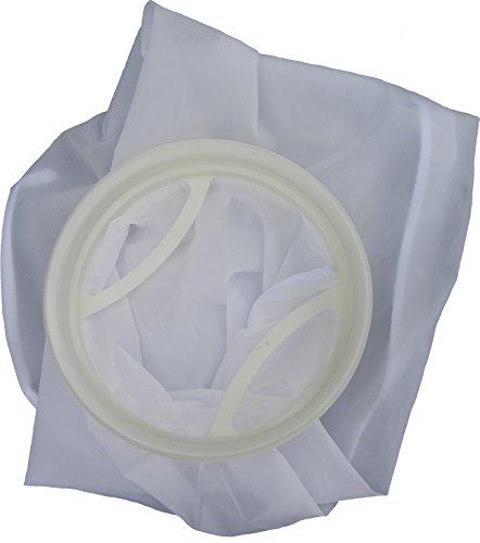 Filterbeutel, Algenkiller Filterstrumpf, 55 Micron, aus waschbarem Nylongewebe mit stabilem PE-Kragen - filtert so fein wie ein Trommelfilter, ist kinderleicht zu reinigen, wie ein Damenstrumpf - das Ende von Schmutzpartikeln und Algen im Koiteich, Gartenteich und Pool, 55 µ Feinheit