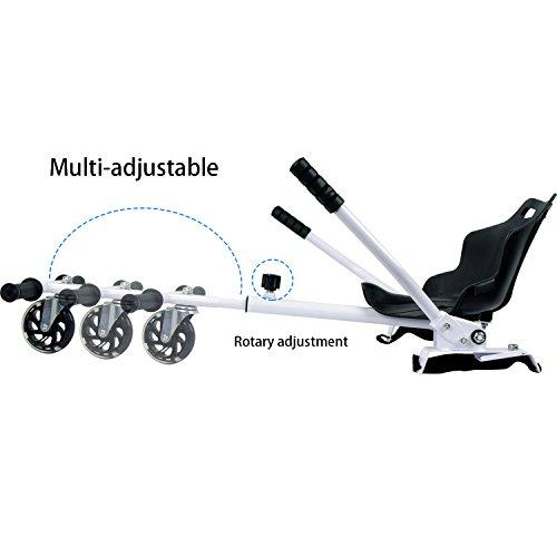 WATSON Hoverkart Sitzscooter Gokart, Hovergokart, Hoverdrift hovercart, Sitz für Elektrokart Self Balancing Scooter, Kompatibel mit 6,5, 8 und 10 Zoll