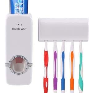 Housweety 1Ensemble de support de brosse à dents et distributeur de dentifrice