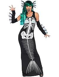 BienBien Maniche Lunghe del Manicotto Lungo Vestito da Carnevale Donna  Fantasia Sirena Costume Vestiti Stampa Maxi Abito Halloween… 10cb09a0f05e