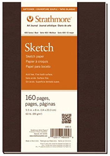 Pro-Art Strathmore Sketch Tagebuch Zeigen Wandbild 7.75-inch X 23,5cm, 80Blatt