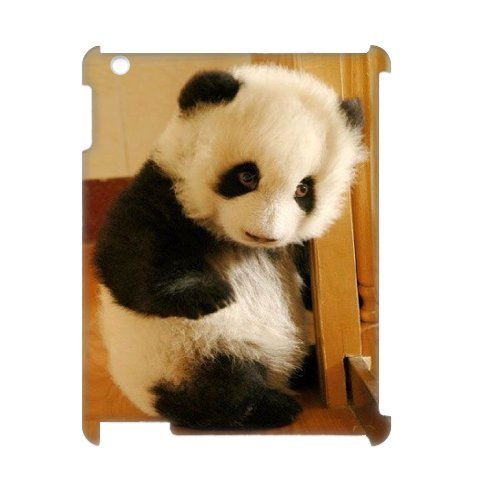 Cute panda Personalized 3D Cover Case for iPad2,3,4,custom Cute panda Case