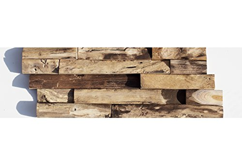 HO-008-1 Holz-Paneele Teakholz 3D Verblender Holzwand - Holz-Fliesen Lager Verkauf Stein-Mosaik Herne NRW