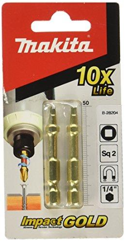 Makita b-28204SQ2-50Gold Torsion Schraube Bit-Mehrfarbig