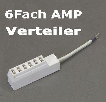 6Fach AMP Verteiler Steckerleiste Adapter -