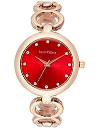 Reloj mujer Louis Villiers en reloj (latón, con esmalte blanco y negro rojo 33 mm al0583 – 09