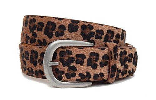 5f7af8857ad67 Schöner Leopardgürtel Ella Jonte braun schwarz Leo Ibiza-Style Leder  Synthetik