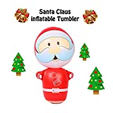 TAOtTAO 95 cm Neuheit aufblasbare Blow Up Weihnachten Weihnachtsmann Tumbler Up Home Decor (A, 95 cm)