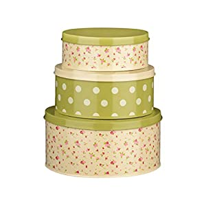 Premier Housewares Rose Cottage Storage Tins - Set of 3