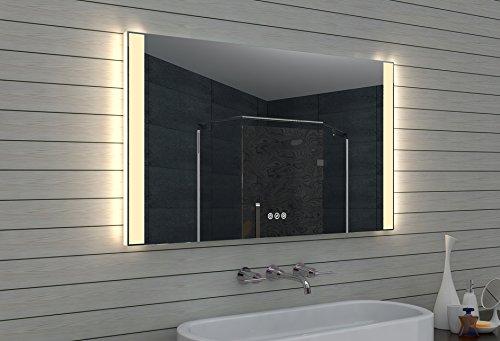 Lux-aqua  LED-Badspiegel, Glas, Aluminium, 120 x 70 x 3.45 cm