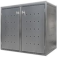 Contenedor de basura Acero inoxidable para por 2contenedores a 240L. Práctico Cubierta para contenedores de basura de Indra metal Iban