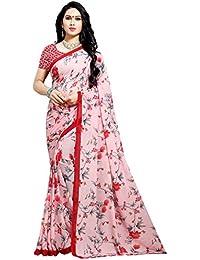 Kashvi sarees georgette with blouse piece Saree (1552_ Multicoloured_ One Size)